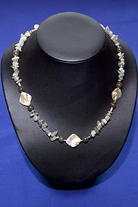 Collana Labradorite, Perle - Cancro, Sagittario