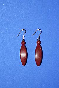 Orecchini Diaspro rosso - Ariete