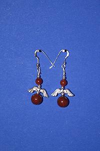 Orecchini Diaspro rosso angeli - Ariete
