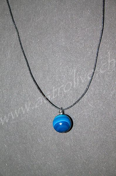 Ciondolo Agata blu tondo - Bilancia, Gemelli