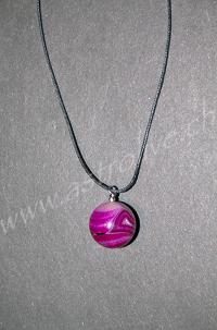 Ciondolo Agata rosa tondo - Bilancia, Gemelli