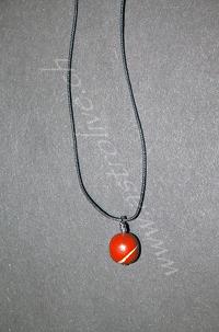 Ciondolo Diaspro rosso tondo - Ariete