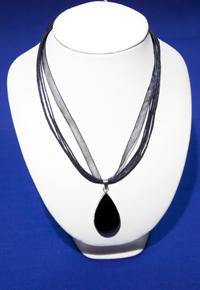 Ciondolo Ossidiana nera goccia - Capricorno