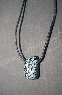 Ciondolo Ossidiana neve - Capricorno