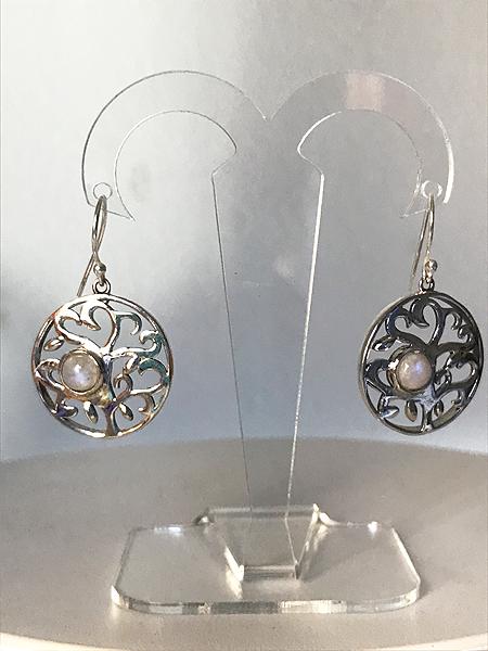 Orecchini con pietra di luna in argento 925
