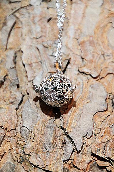 Ciondolo Chiama angeli albero della vita con 7 pietre Chakra piccolo
