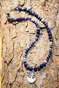 Collana Sodalite albero della vita