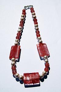 Collana Quarzo cherry perle con chiusura in argento 925