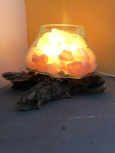 Lampada sale vetro legno 3