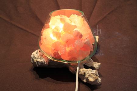 Lampada sale vetro legno 6