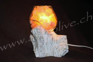 Lampada sale vetro legno 18